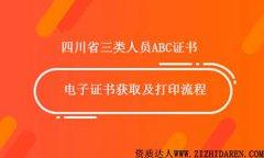 四川省三类人员电子证书打印流程
